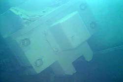 Fuel handling machine submerged in unit 3 fuel pool (source: TEPCO)