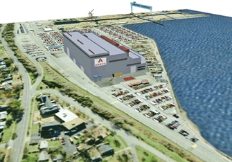 conceptual rendering of the Areva Newport News manufacturing plant