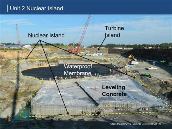 Summer nuclear plant basemat. Source: Scana