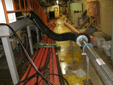 Recently repaired ductwork in Fukushima unit 2 gas control system. Source: TEPCO