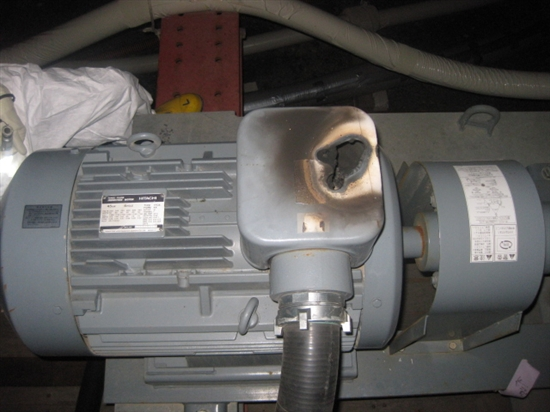 Pump motor in cooling system for unit 4 SFP. Source: TEPCO