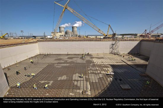 Vogtle reactor construction. Source: Southern Co.