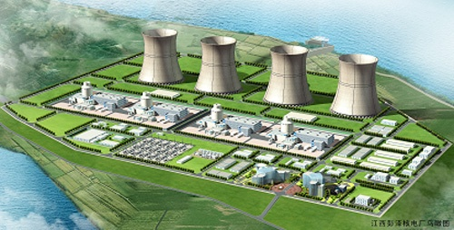 Pengze nuclear plant concept drawing. Source: China Power Investment Corp.