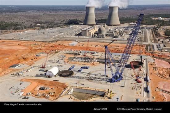 Plant Vogtle construction, first quarter, 2013. Source: Southern Co.