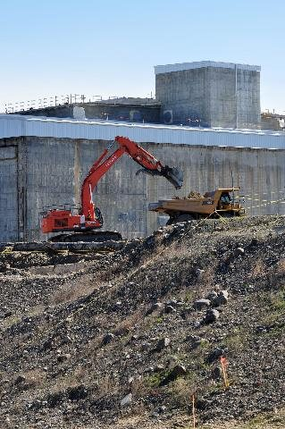 Reactor building demolition at Hanford. Source: DOE