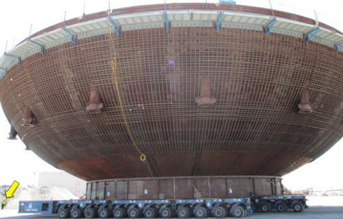Summer nuclear plant unit 2 containment vessel bowl. Source: Scana