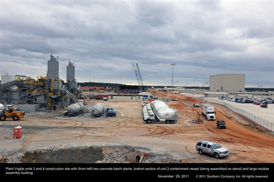 Vogtle nuclear plant construction progress