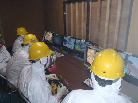 Remote-controlled equipment operators at Fukushima Daiichi, Source: TEPCO