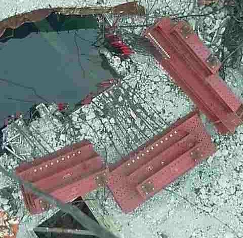Fukushima unit 3 spent fuel pool. Source: TEPCO