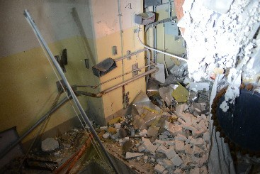 Fukushima Unit 1 fourth floor equipment hatch walls. Source: TEPCO