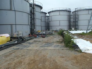 Above-ground tanks at Fukushima Daiichi. Source: TEPCO