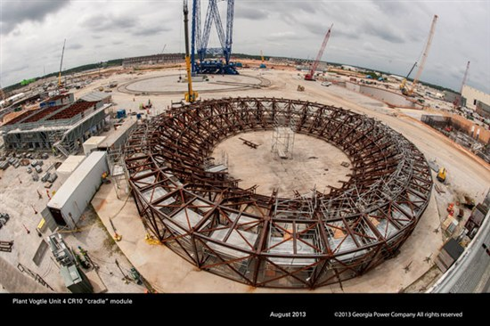 Plant Vogtle summer 2013 construction photos. Source: Southern Co.