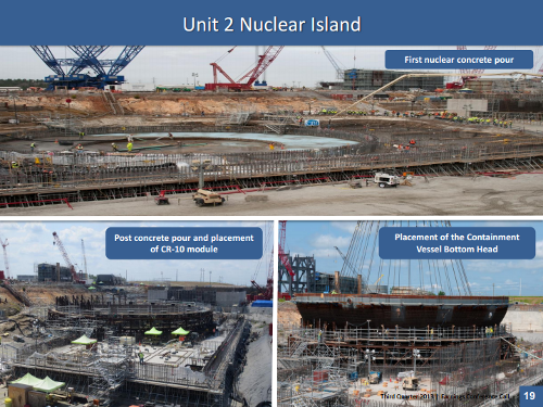 2013 V.C. Summer nuclear plant construction. Source: Scana
