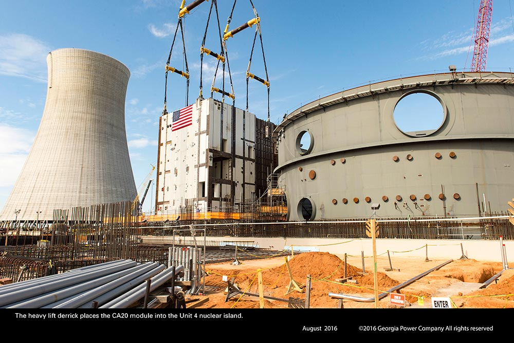 New Vogtle 3 And 4 Nuclear Plant Construction Pictures