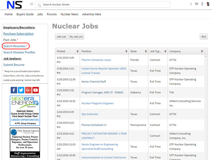 Nuclear Resume Search - Nuclear Street Support - Support
