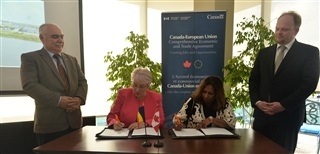 MOU signing, Canada & Romania
