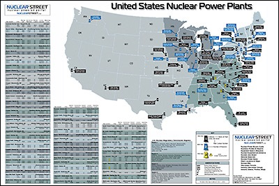 Nuclear Street Nuclear Power Plant News Jobs And Careers - Nuclear power plants us map